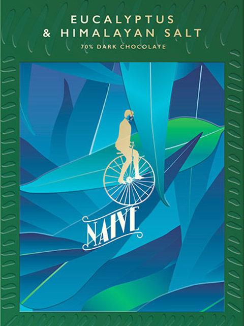 70% тёмный шоколад с эвкалиптом и гималайской солью