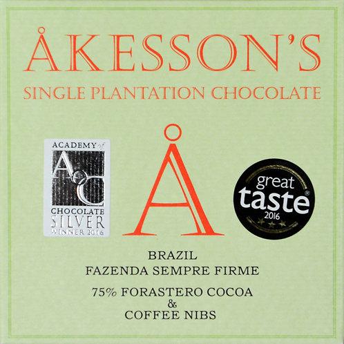 75% какао Форастеро с зернами кофе