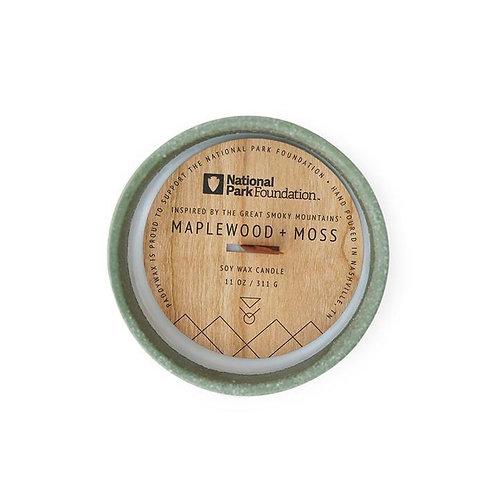 THE GREAT SMOKY MOUNTAINS MAPLEWOOD + MOSS, свеча с деревянным фитилём