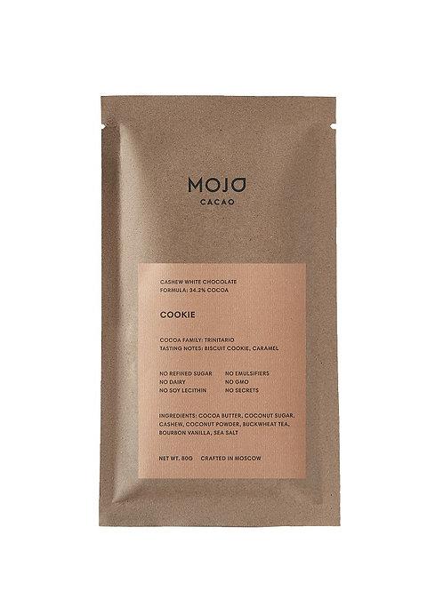 Cookie. Белый шоколад Mojo cacao с гречишным чаем со вкусом печенья