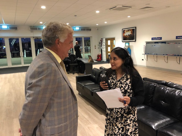 Sir Trevor Brooking interviewed by Nita Jhummu from Hospital Radio Chelmsford