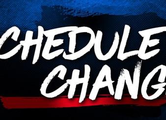 Schedule Change Mon 2/19/2018
