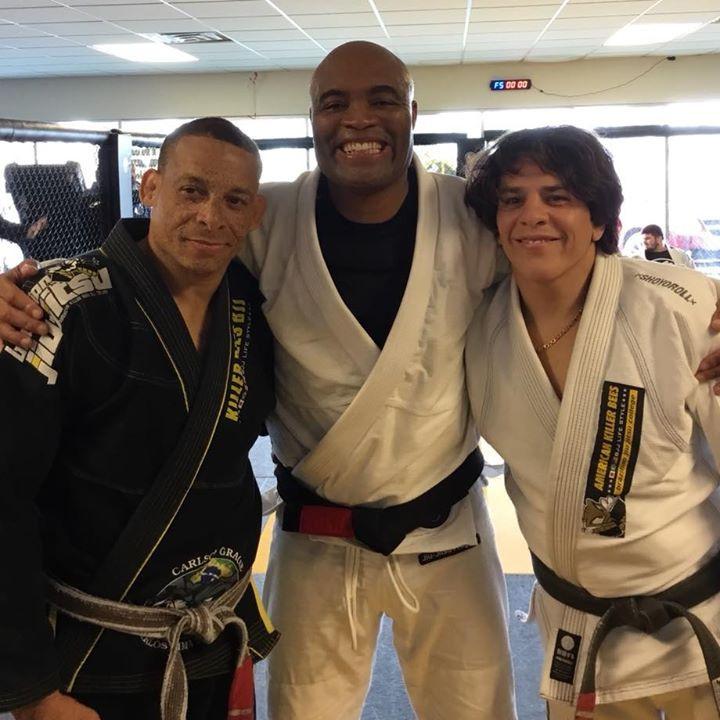 Anderson Silva and Israel Gomes