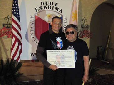 Receiving my instructor certification..j
