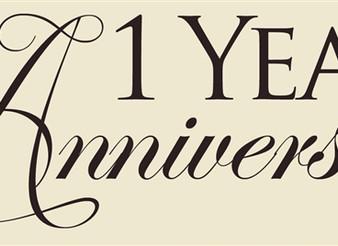 Happy 1st year Anniversary