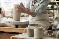 陶器ホイールにWokring