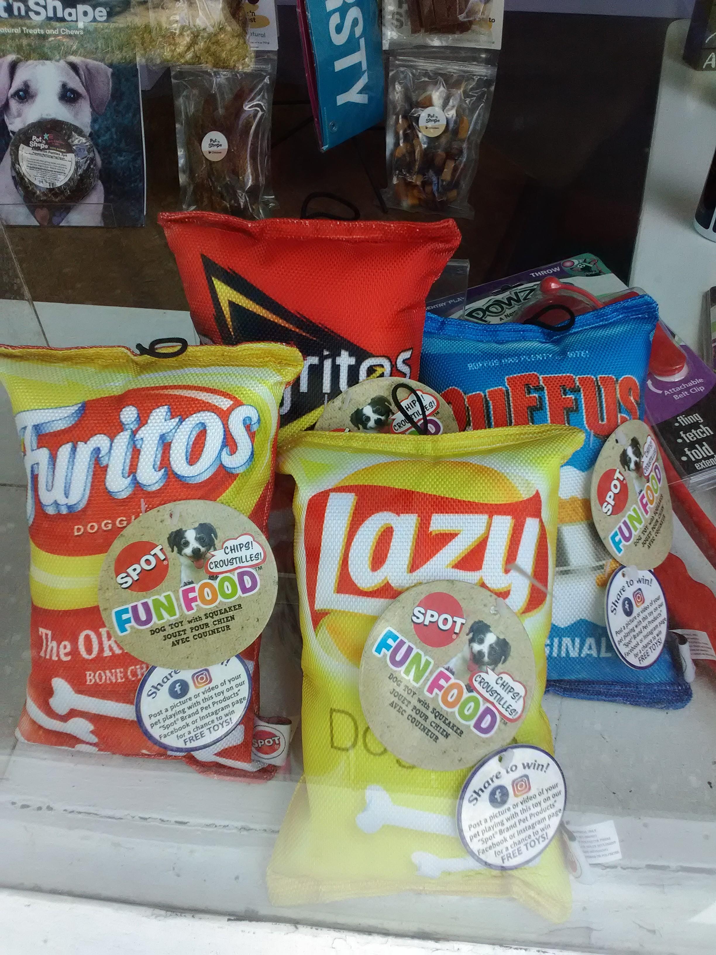 Spot Fun Food Bag Chew Toys