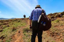 hiking in Malealea, Lesotho