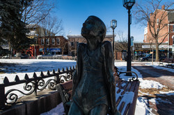 statue of a girl in Chelsea Square