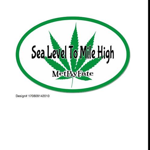 Sea Level To Mile High 420 Sticker
