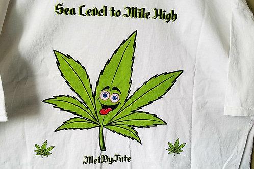 Sea Level 420 Laffing Leaf T-shirt (White)