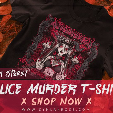 The Malice Murder T-shirt is back in store