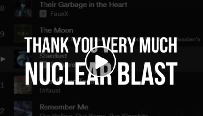 Thanks to Nuclear Blast!