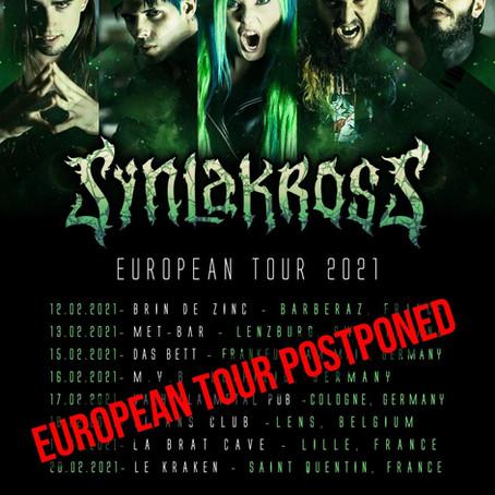 EUROPEAN TOUR POSTPONED