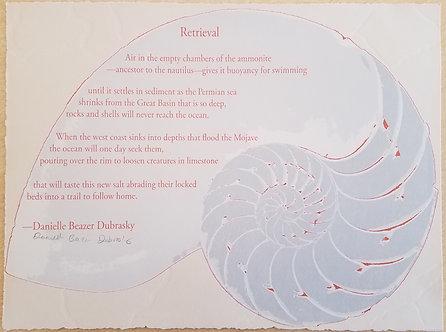 Danielle Beazer Dubrasky Letterpress Broadside