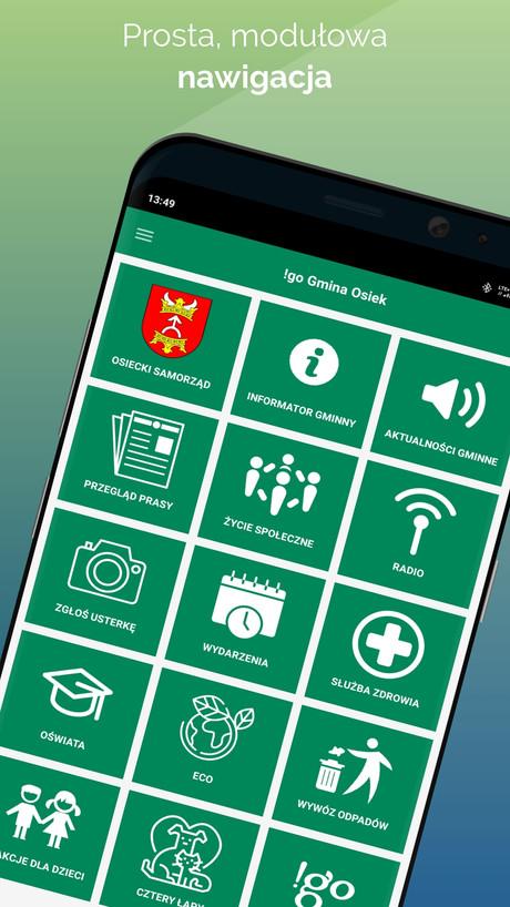 !go Gmina Osiek - modułowa aplikacja