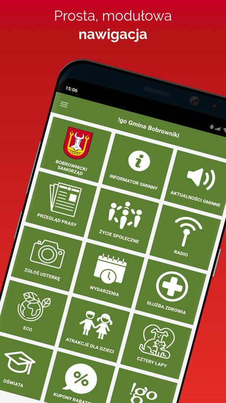 !go Gmina Bobrowniki - modułowa aplikacja