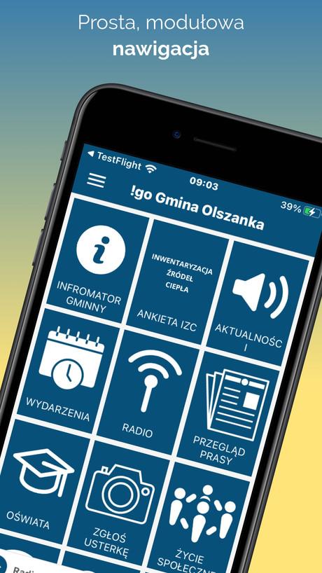 !go Gmina Olszanka - modułowa aplikacja