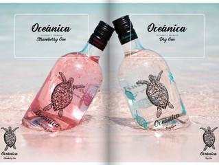 Nuevas ginebras: Oceánica dry gin y Oceánica strawberry gin