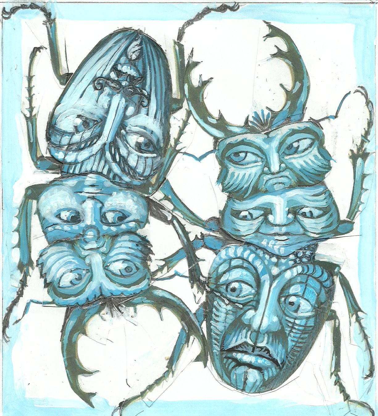 beetle faces design