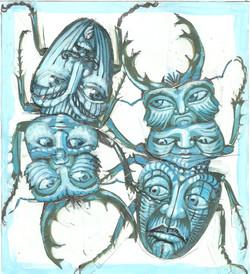 beetle faces design