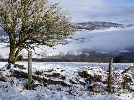 Snowy morning in the Beacons