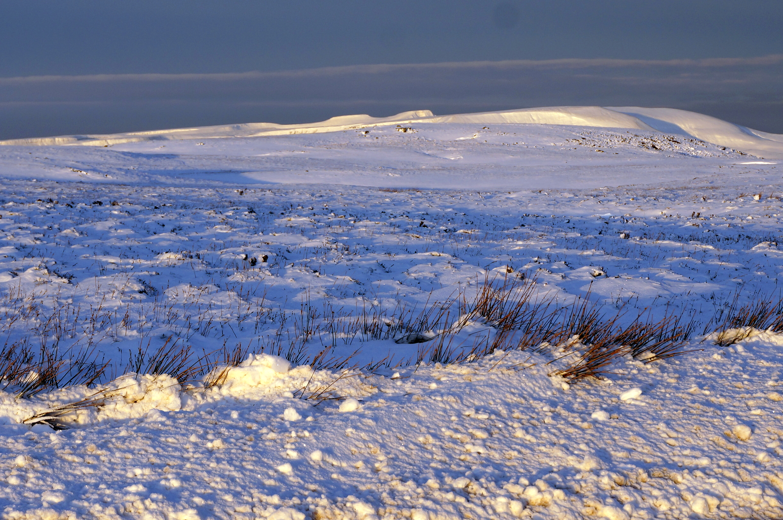 snowy Pen y fan from Llangynidr moun