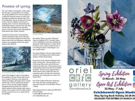 Oriel Cric Gallery Spring Exhibition