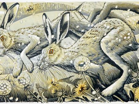 'Golden Morning Hares'