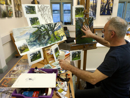 'Artist in Residence' for a day at Oriel Cric Gallery.