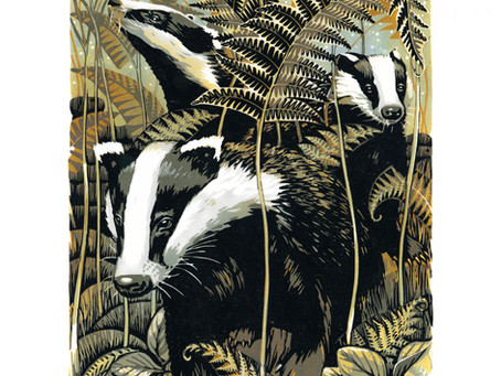 Autumn Bracken Badgers