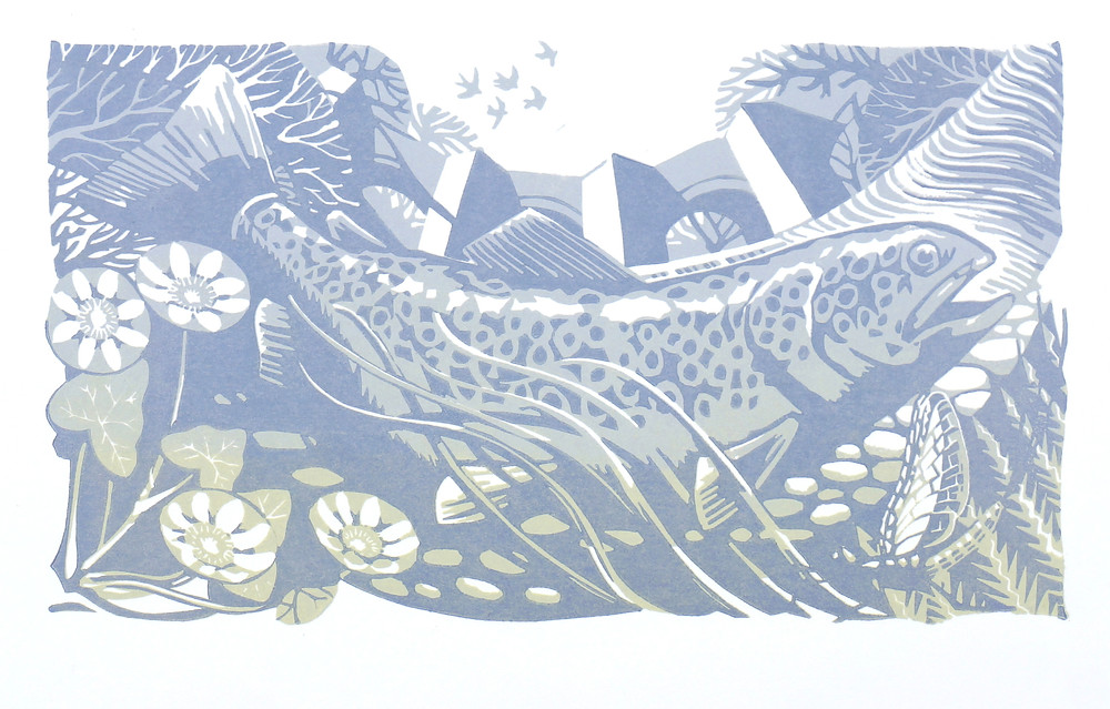 Usk trout III, second print
