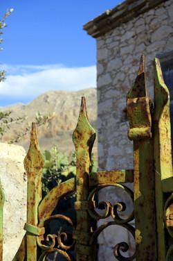 rusting gate