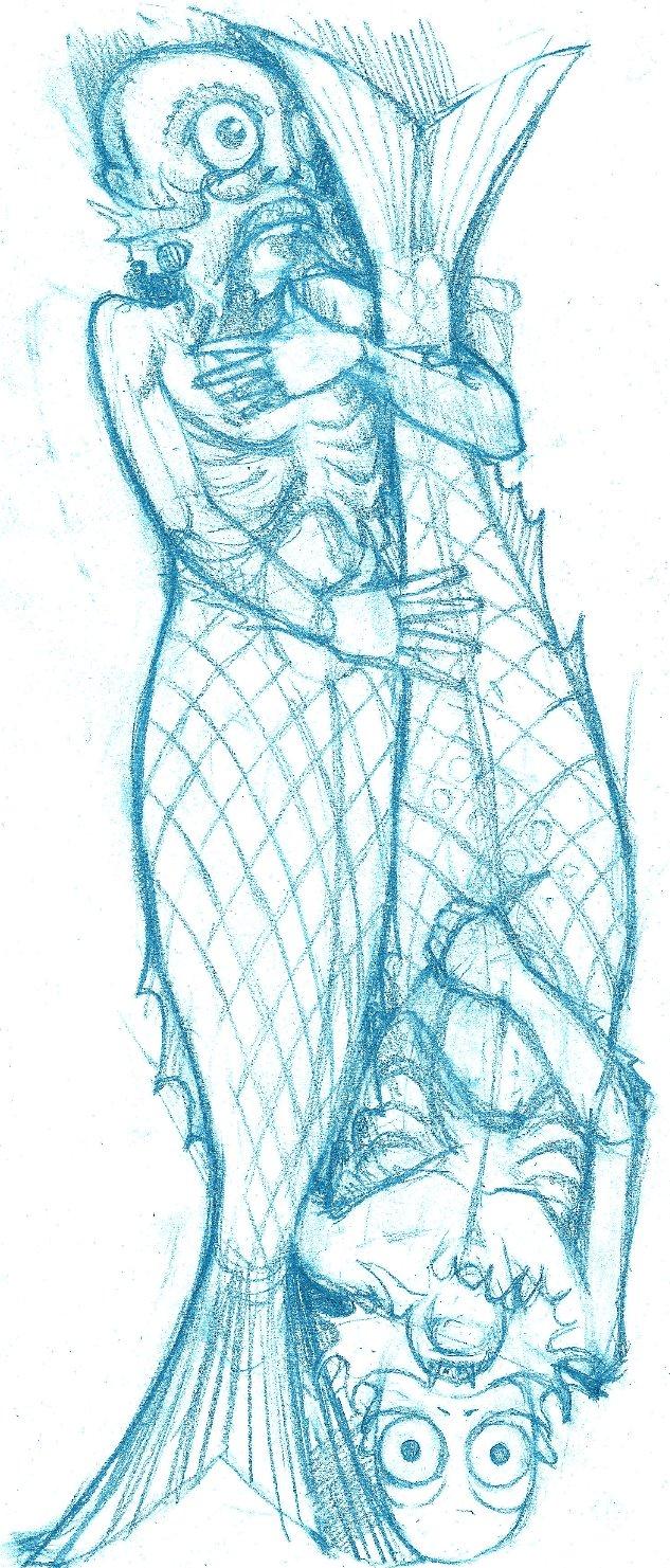 mermen sketch