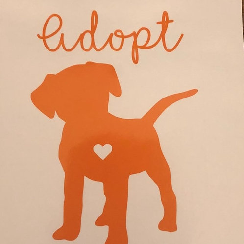 Window Decal Adopt Don't Shop
