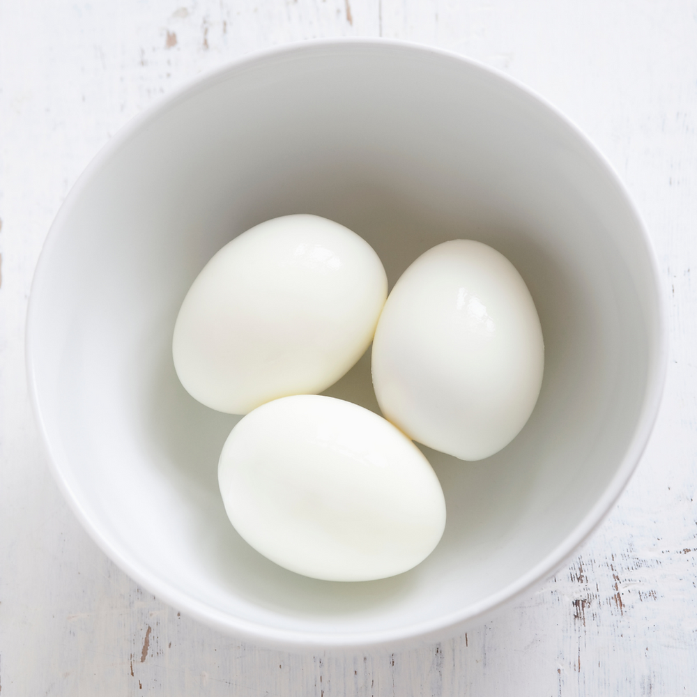 hard-boiled egg snack for runners and athletes