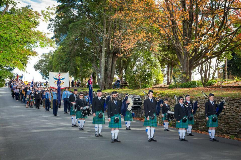 Blue Mountains Pipe Band 2015