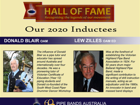 TWO NEW INDUCTEES FOR HALL OF FAME