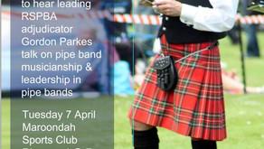Band musicianship presentation by Gordon Parkes