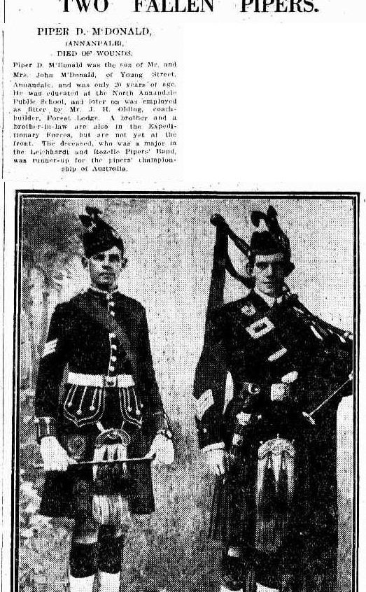 nsw 1915 pipers