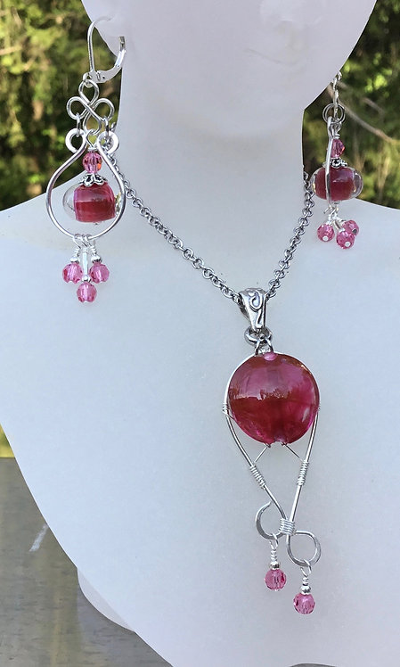 Cranberry Pink EARRINGS