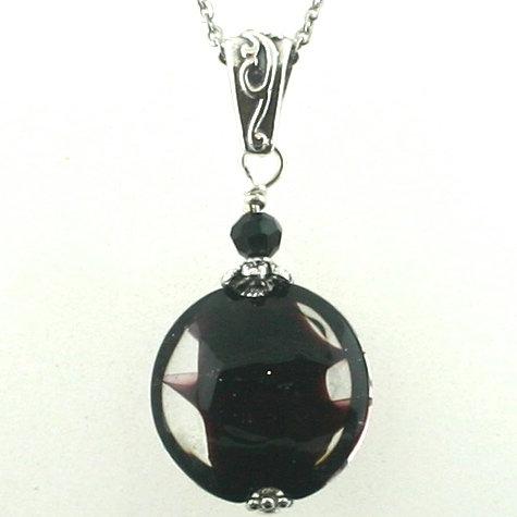 Pendant - Black w/ Clear (1442)