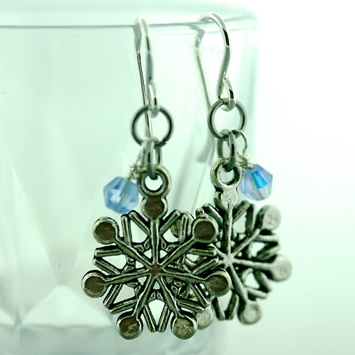 Earrings - snow flake- 1589
