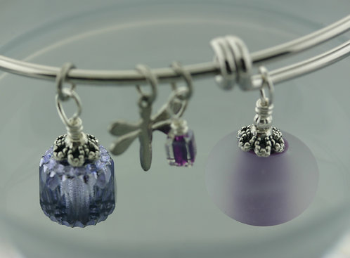 Expandable Bangle Frosted Lavender 1599