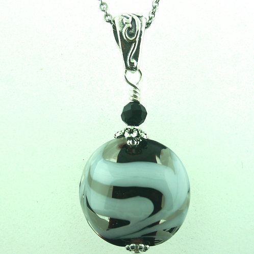 Pendant - Black, Clear, and White (1457)