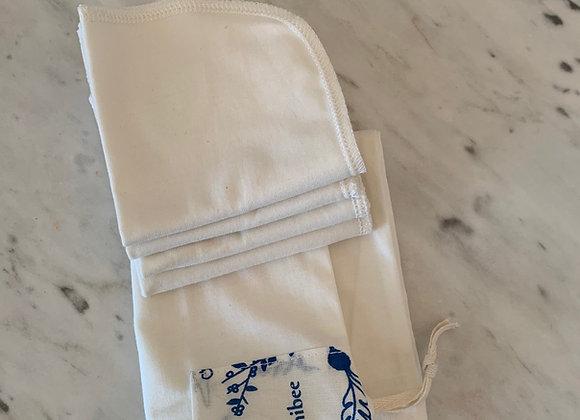 Kit toalha facial algodão orgânico - 4un