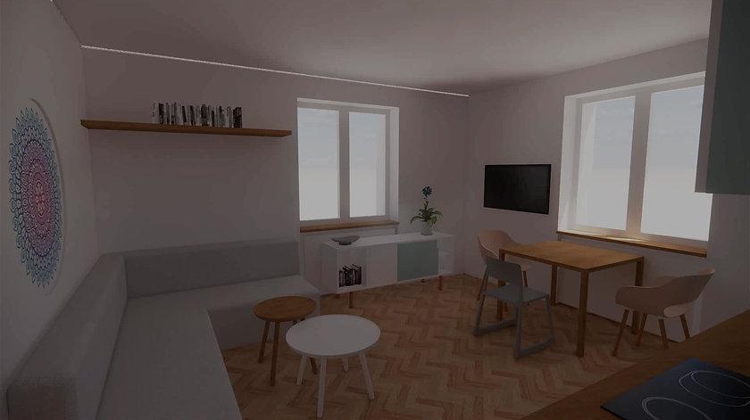 3D prohlídka bytu Vršovice