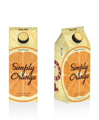In my Packaging Design class I decided to develop new package concepts for Simply Orange juice. Through the process of research and conceptualization, I developed a prototype of new package complete with new brand identity and marketing concepts.