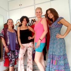 Clothe shopping tour at Mariel Bobek's