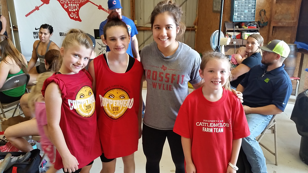 Caitlin, E, and Hannah with Jourdan Delacruz